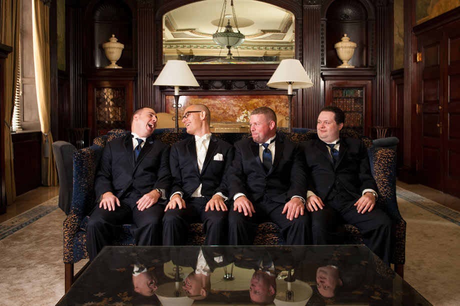 groomsmen at the grand historic venue