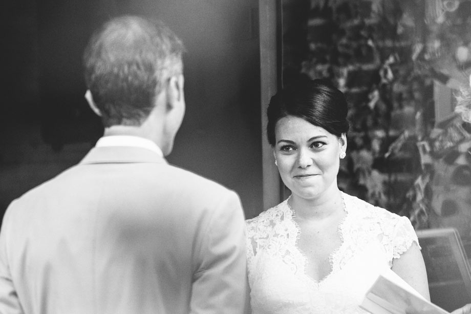bride looking at groom during avam ceremony