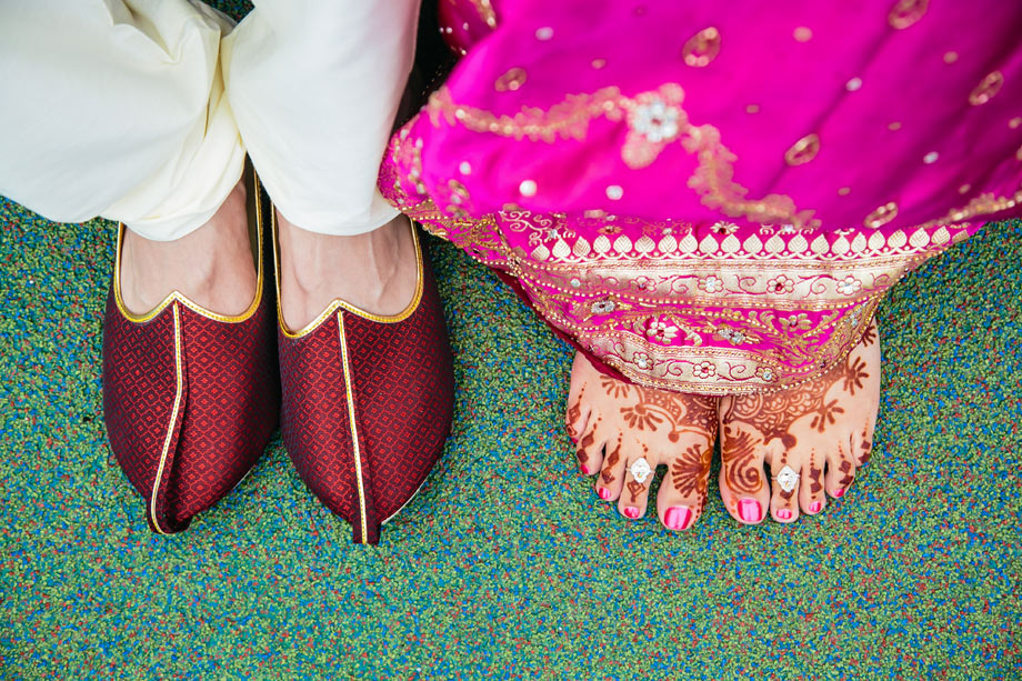 indian wedding feet
