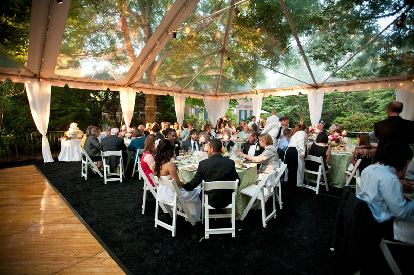 Wedding Reception In A Clear Tent