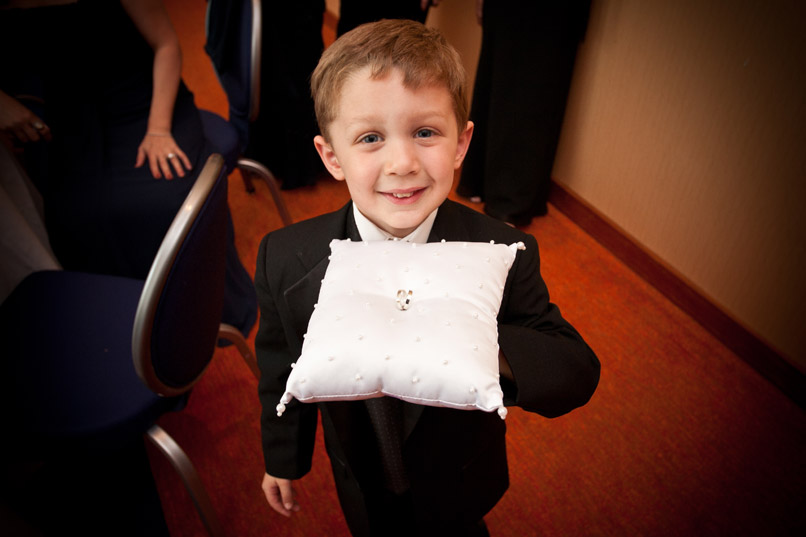 child ring bearer with pillow