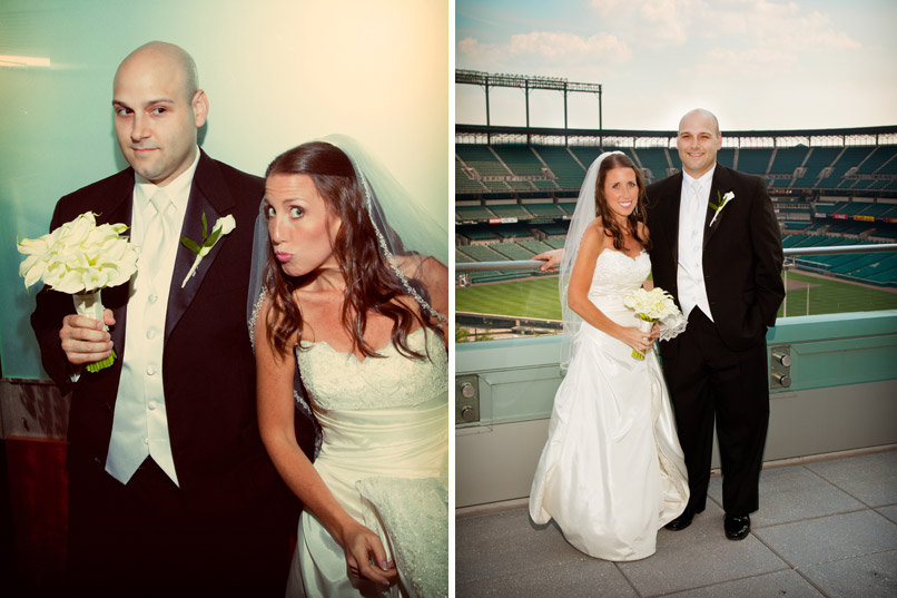 bride and groom camden yards