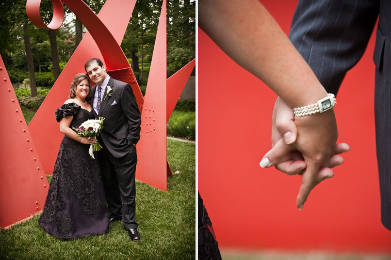 wedding at the baltimore museum of art BMA