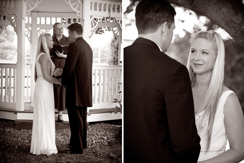 Bride and Groom at gazebo for ceremony