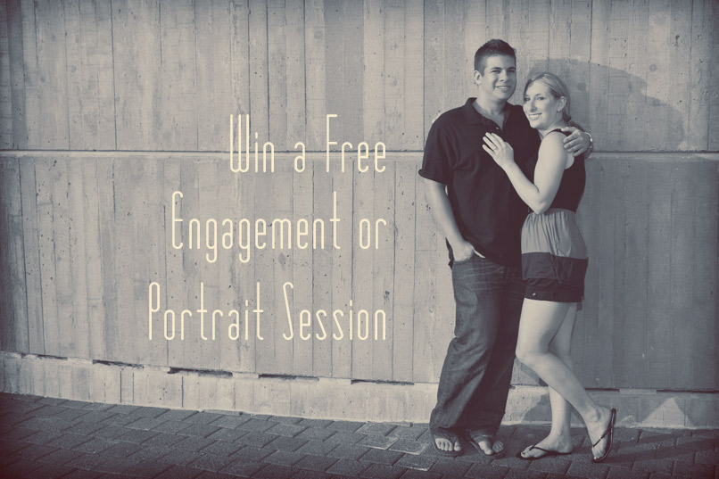 win a free engagement or portrait session