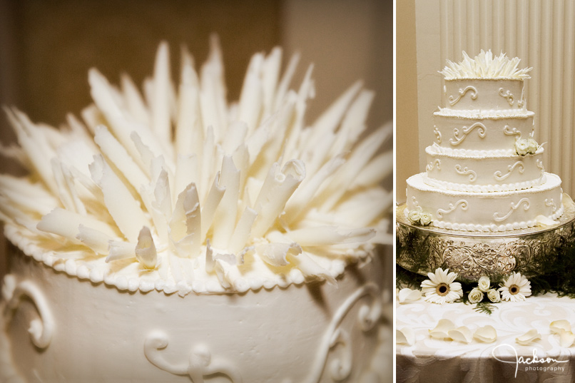 White Chocolate Wedding Cake Topper