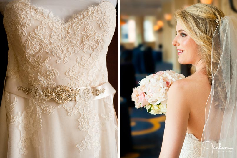 bride and bridal gown