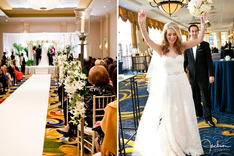 ceremony at marriott waterfront hotel
