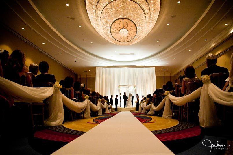 wedding ceremony at baltimore marriott waterfront