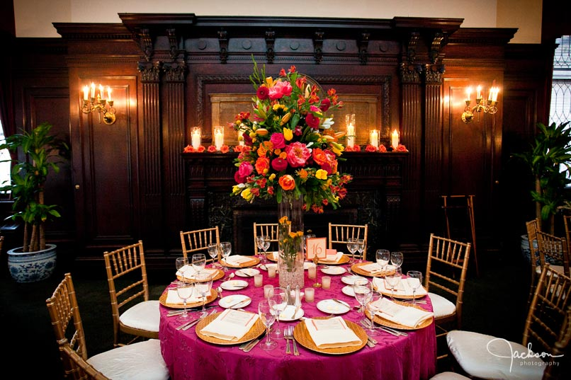 table in fuchsia at maryland club
