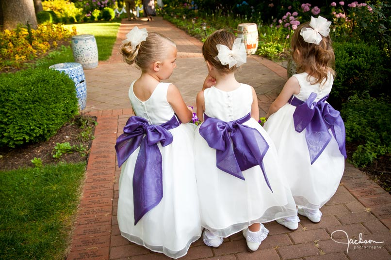 Brooke and zachs wedding at the gramercy mansion jackson flower girls with purple sash mightylinksfo