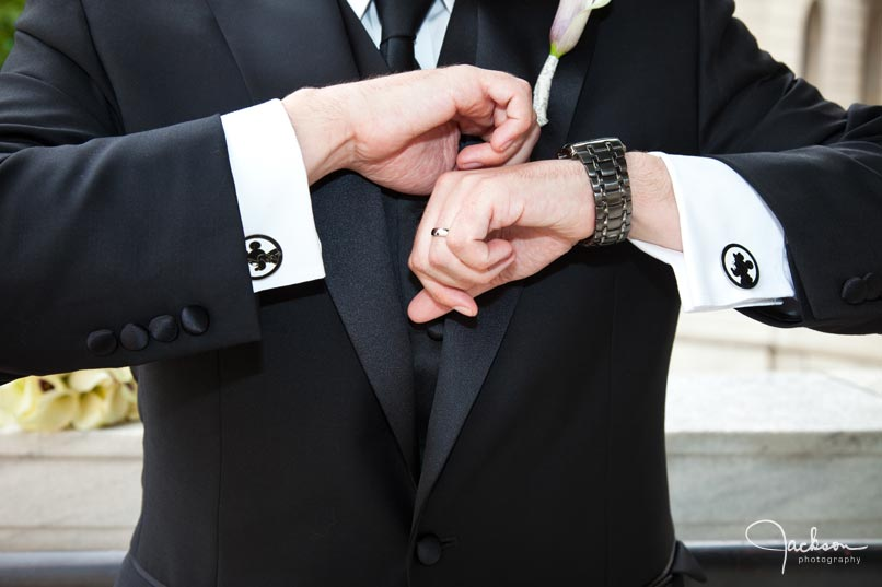 groom's mickey mouse cuff links