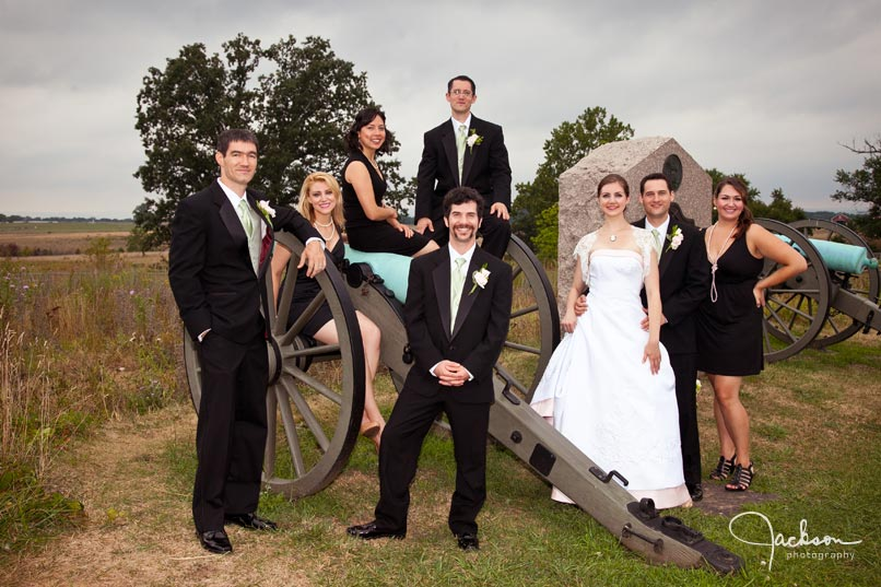 photography bridal party on cannon