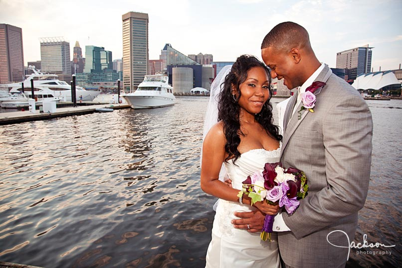 african american wedding couple in baltimore