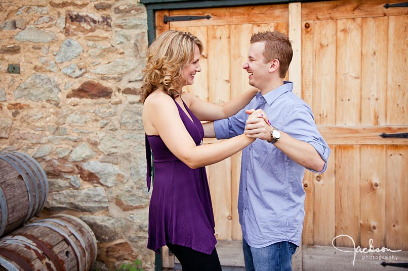 Boordy Vineyards Engagement Portrait