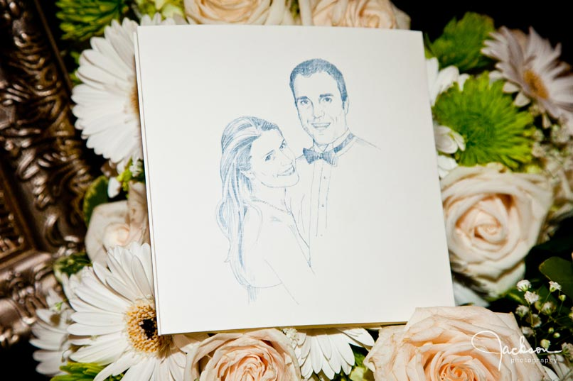 Hand drawn wedding invitation