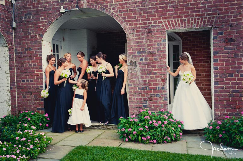 bride and bridesmaids at bcc