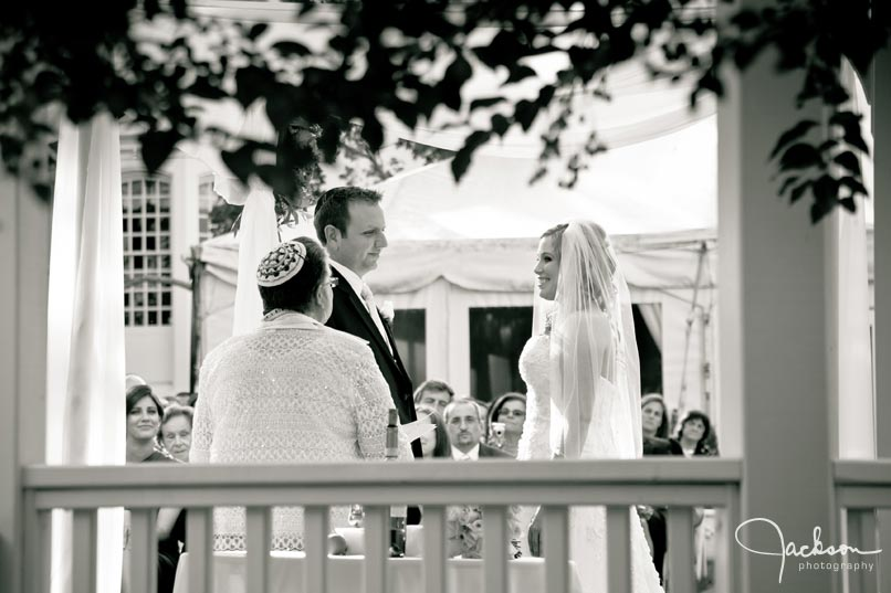 black and white ceremony photograph