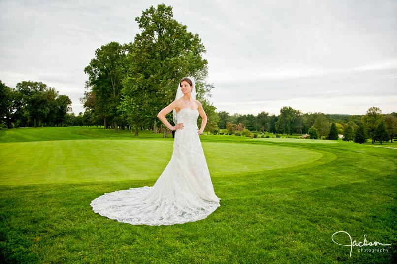 bride on hillendale's golf course