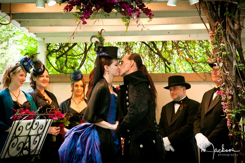 renaissance gothic wedding ceremony
