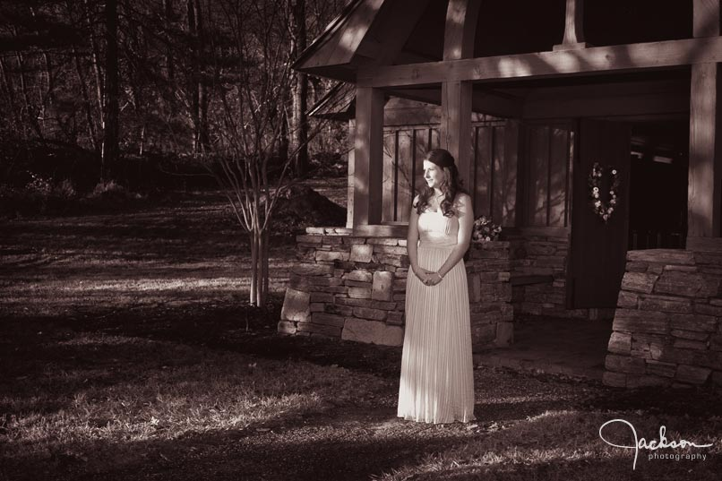 bride at garrison forest chapel
