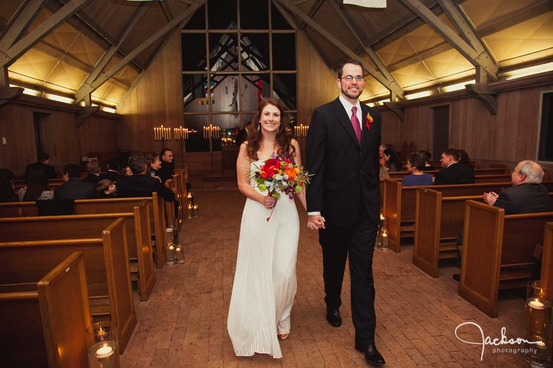 wedding ceremony at garrison forest chapel