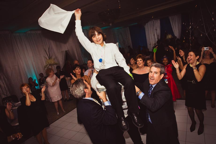 boy's mitzvah chair dance