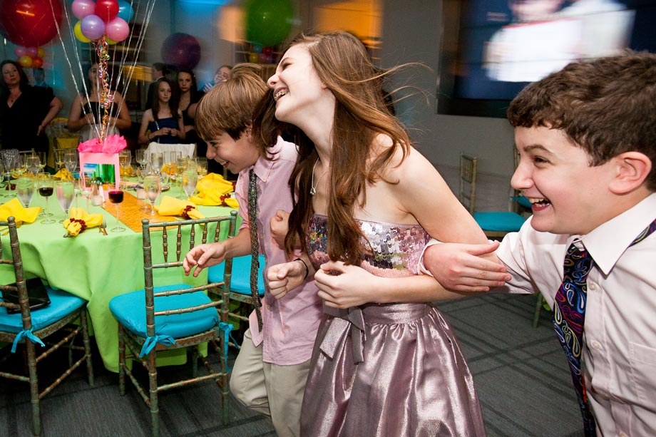 girl dancing at her mitzvah