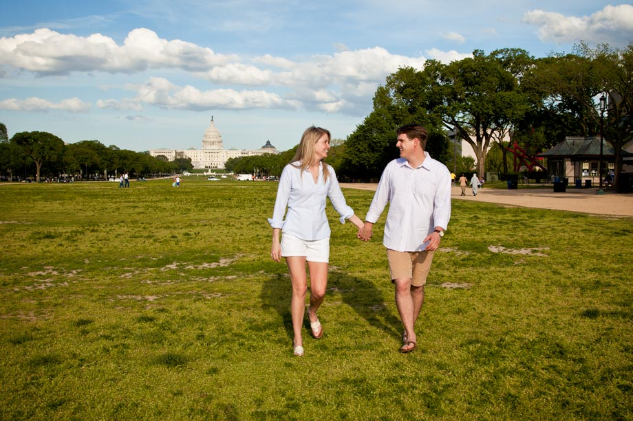 couple walking in washington dc