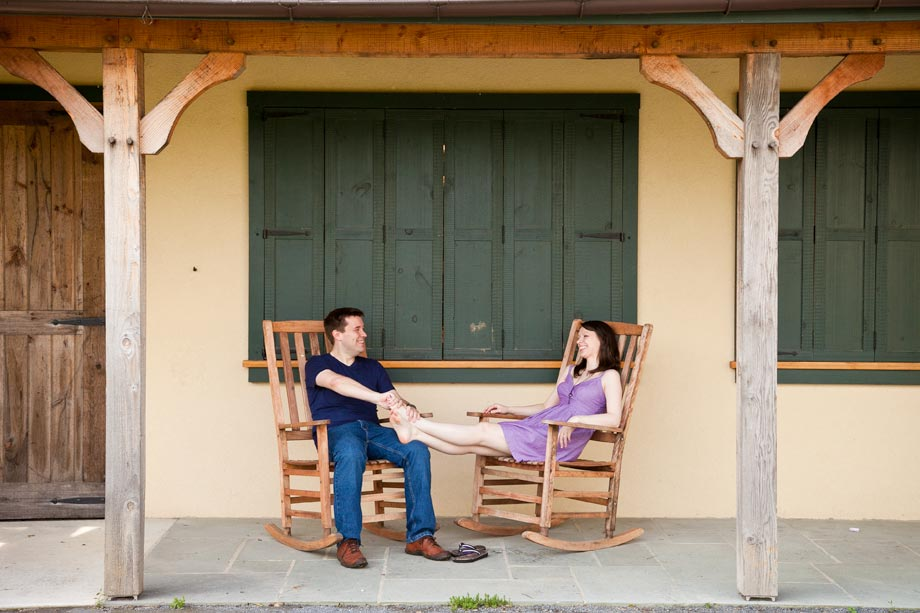 couple in rocking chairs at boordy