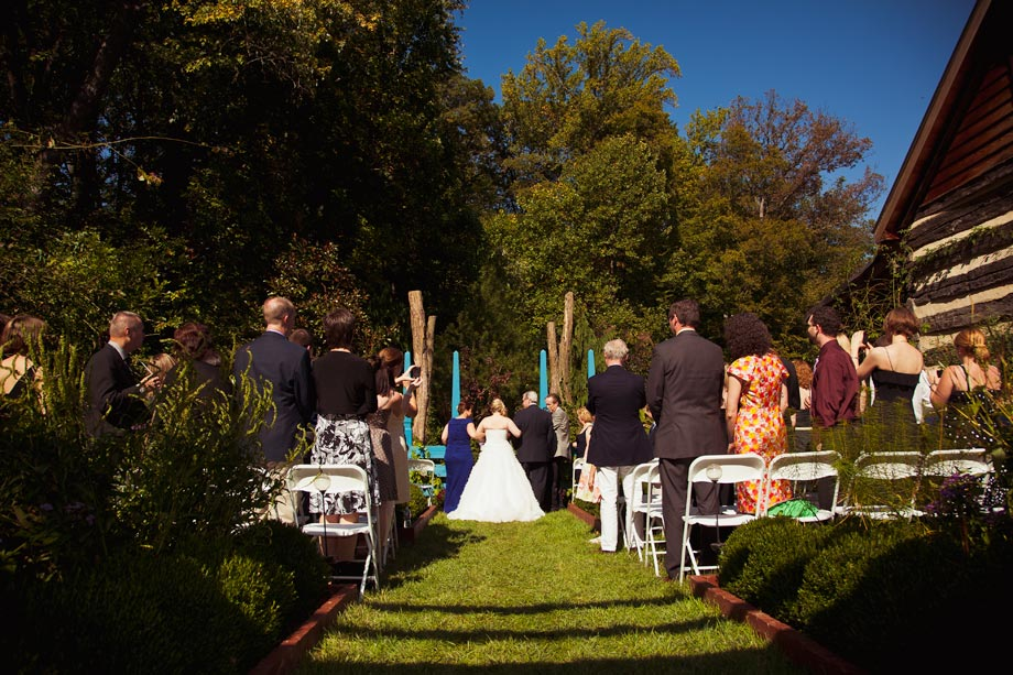 garden wedding outdoor ceremony