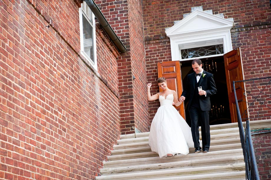 bride and groom entering bcc