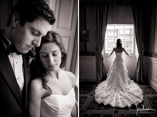 bride by elegant window light