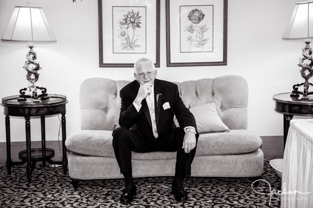 father of the bride waiting