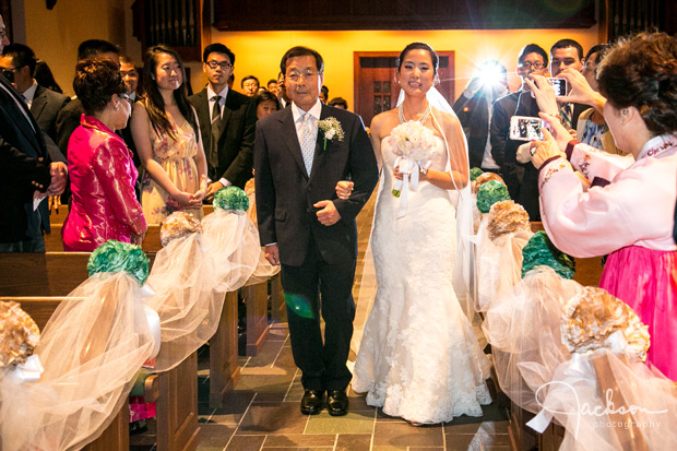 walking down the aisle asian wedding ceremony