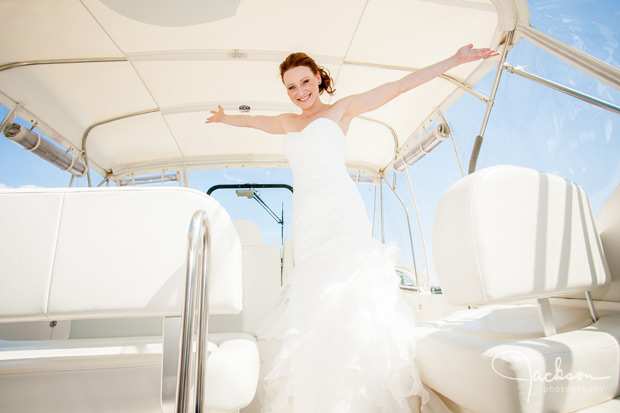 bride on sailboat