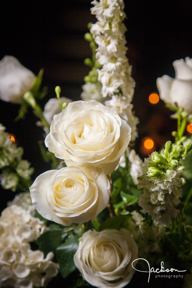 white rose flower arrangement