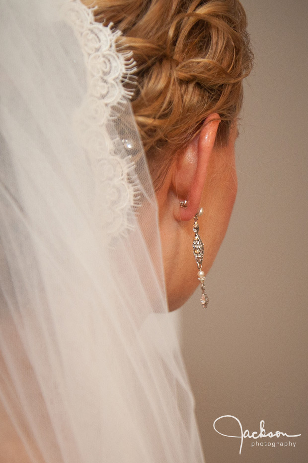 detail of bride's earring