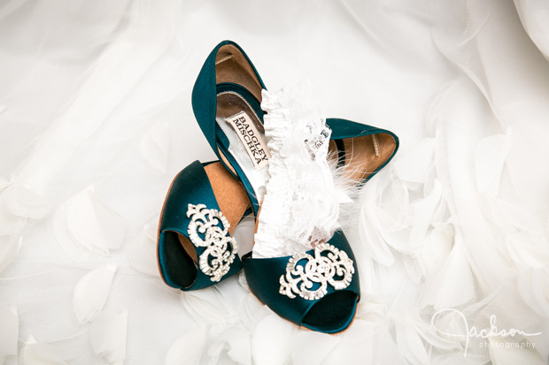 dark green bridal shoes heels