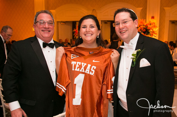 Bride with Texas Longhorn Jersey
