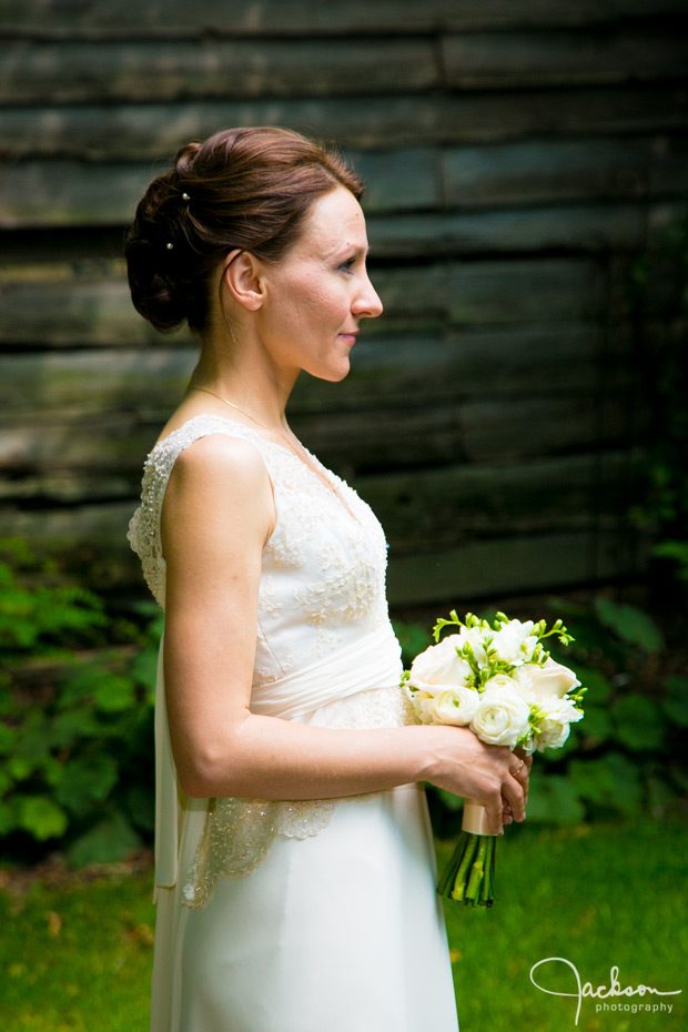 profile of bride