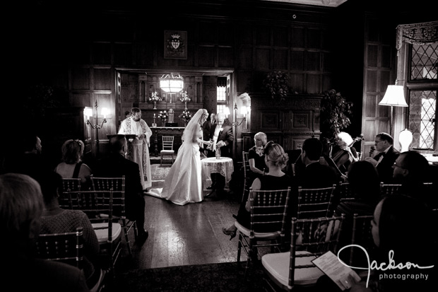 black and white wedding ceremony maryvale