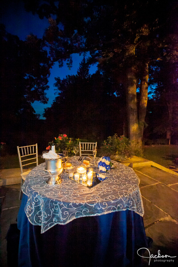 bridal table outside at maryvale