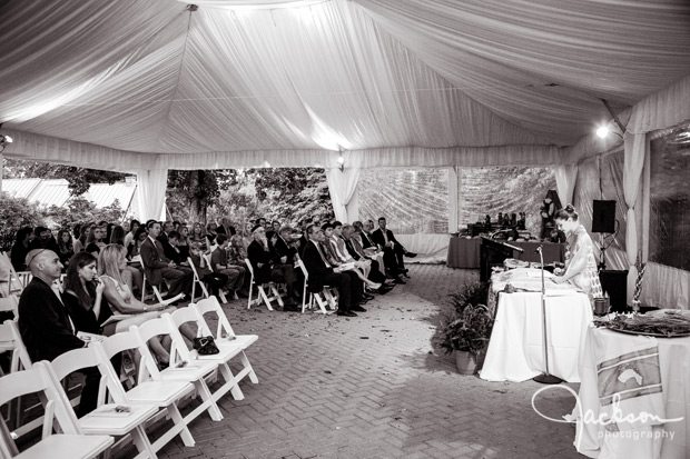 bat mitzvah ceremony in tent