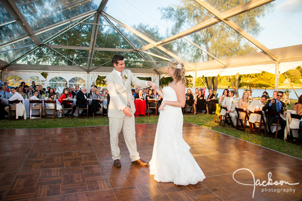 first dance under clear top tent