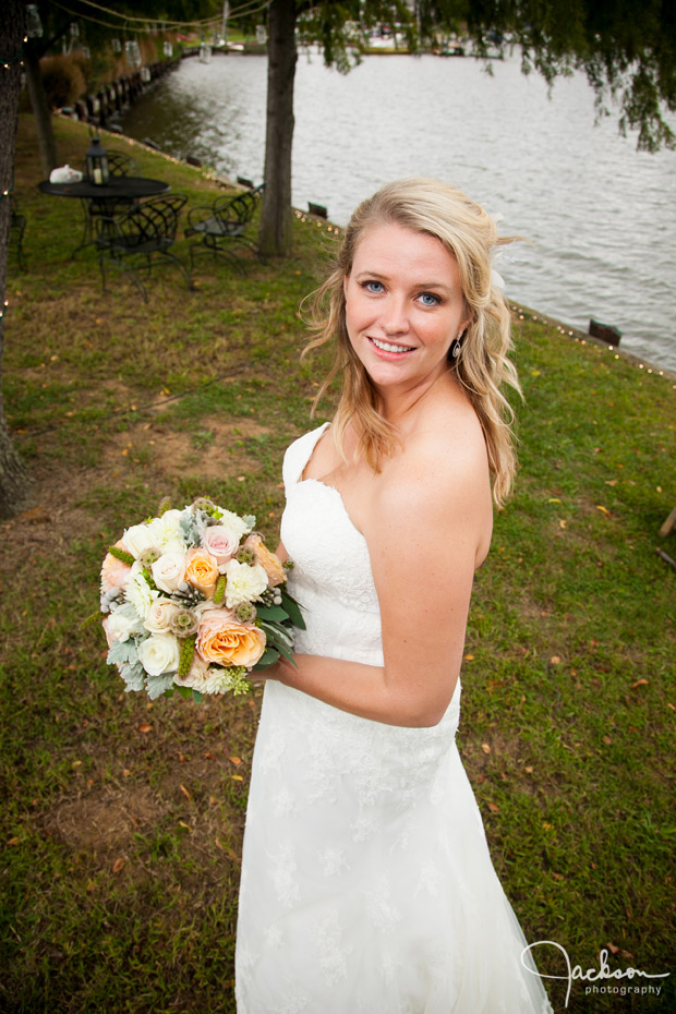 portrait of bride by the bay