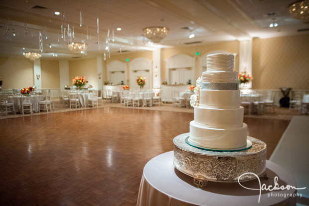 cake in front of dancefloor of woodholme