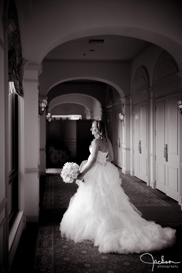 bride by the window at woodholme