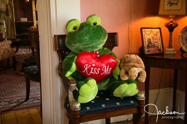 plush frog with hearts