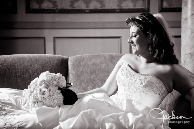 dramatic profile of bride